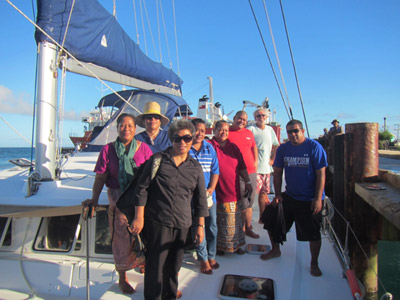 FHCC team preparing to sail out to the remote islands